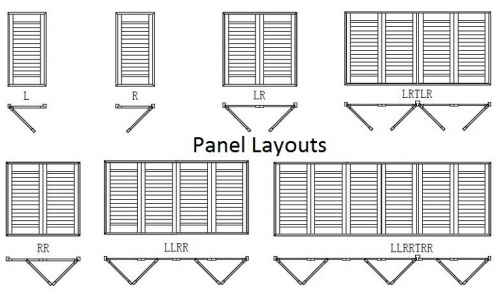 DIY Plantation Shutters timber panel layout