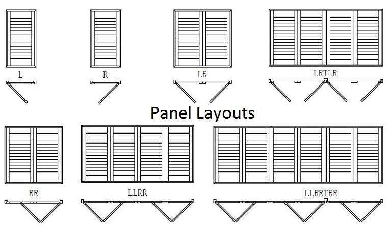 DIY Plantation Shutters timber panel layout
